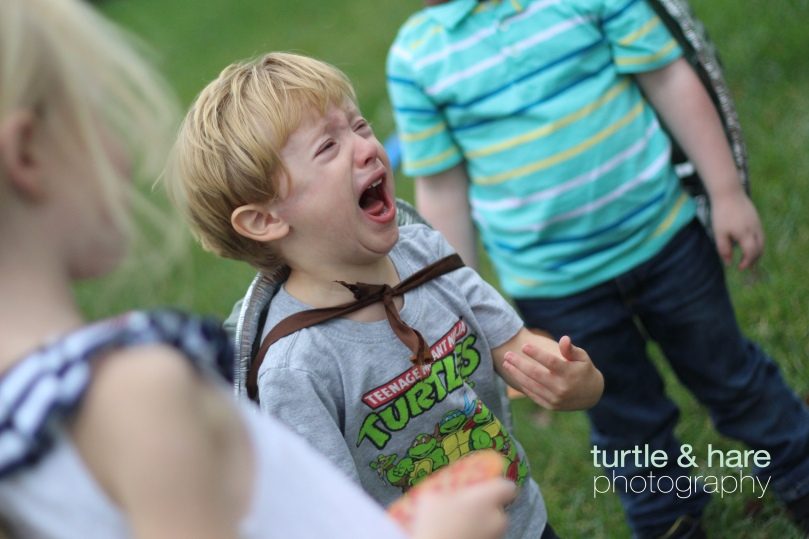 Crying Child on Birthday
